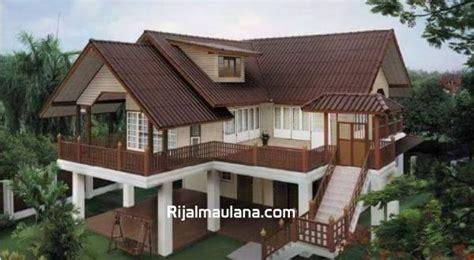 kumpulan  desain model rumah kayu panggung modern mungil