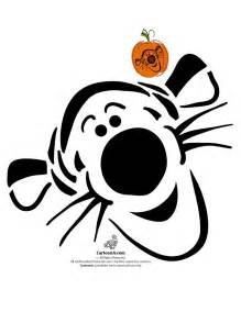 Winnie The Pooh Pumpkin Stencil by Classic Disney Pumpkin Stencils Disney S Tigger Pumpkin