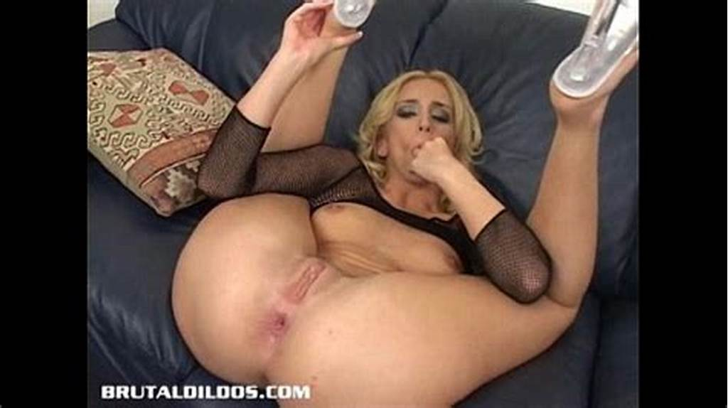 #Kelly #Wells #Stretches #Her #Ass #With #A #Brutal #Dildo