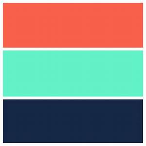Teal, navy, and coral color scheme | For the home ...