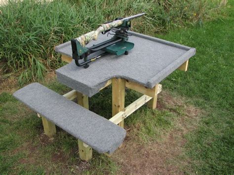 plans  wood shooting bench woodworking projects plans