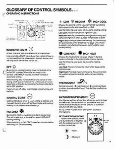 Glossary Of Control Symbols  Operating Instructions