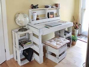 Construire Un Bureau : gallery of bureau dutudiant with fabriquer un bureau en palette ~ Melissatoandfro.com Idées de Décoration
