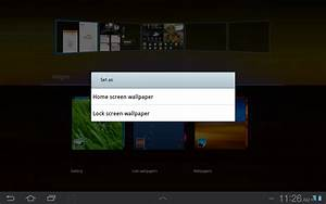 How to Change Wallpapers on Galaxy Tab Tablet