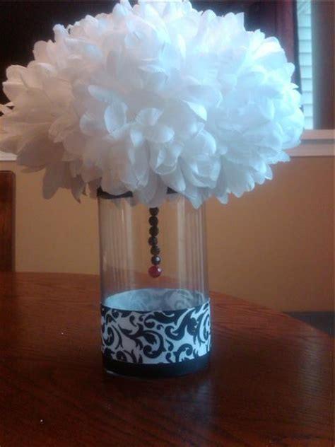 diy black and white centerpieces weddingbee photo gallery