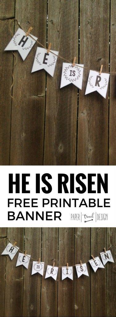 risen banner  printable easter banner crafts
