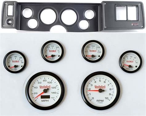 79 81 camaro black dash carrier concorse white gauges