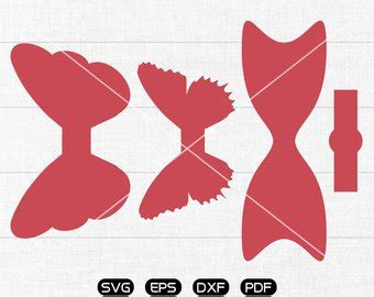 cricut bow template hair bow clipart etsy