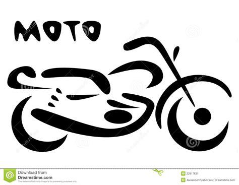 Sketch Of Modern Motorcycle. Vector Illustration Stock