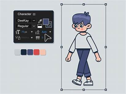 Character Dribbble Animation Deekay Motion Graphic Aftereffects