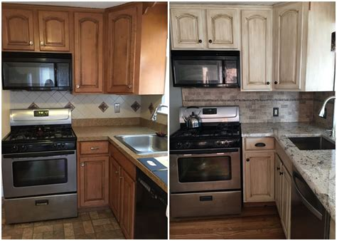 painting kitchen cabinets with rustoleum before after rustoleum cabinet transformations in 7344