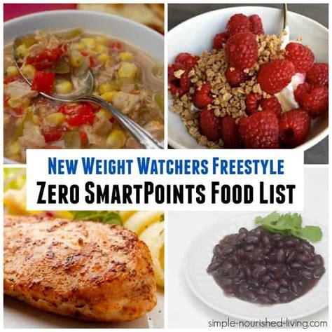 cuisine weight watchers weight watchers freestyle zero smartpoints food list