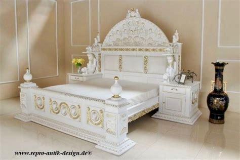 Barock Bett Königsbett Mit Polster (integrierte