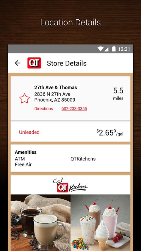 quiktrip qt gas food coupons android apps  google play