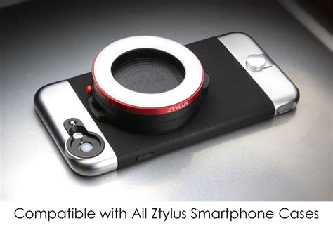 ring light for iphone ztylus rv l1 led smartphone ring light attachment for
