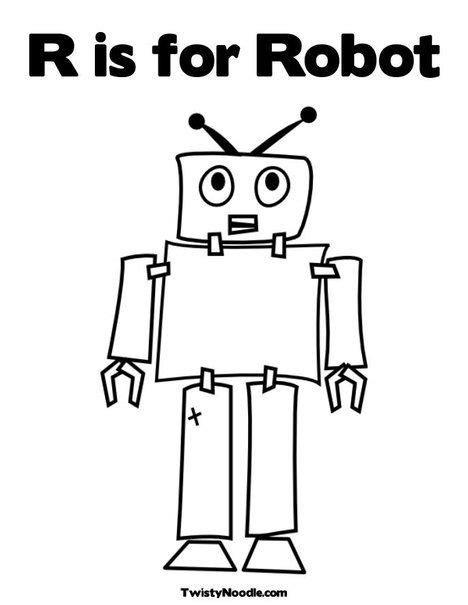 R is for Robot Coloring Page | E - Busy Mind | Robot