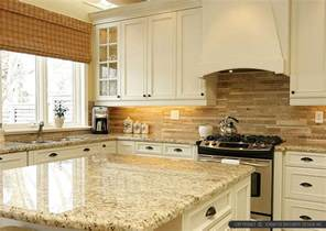 Travertine Kitchen Backsplash Travertine Glass Backsplash Ideas And Photos