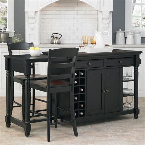 home styles grand torino black kitchen island  seating    home depot
