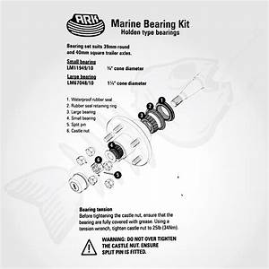 Complete Set Marine Boat Trailer Wheel Bearings Buddies