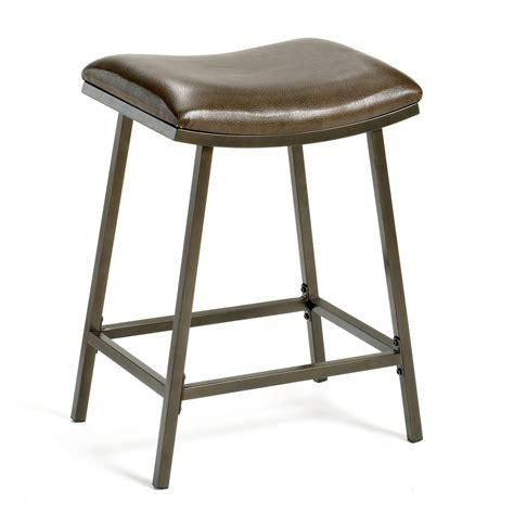 bar stool saddle counter legs copper adjustable walmart finish brown