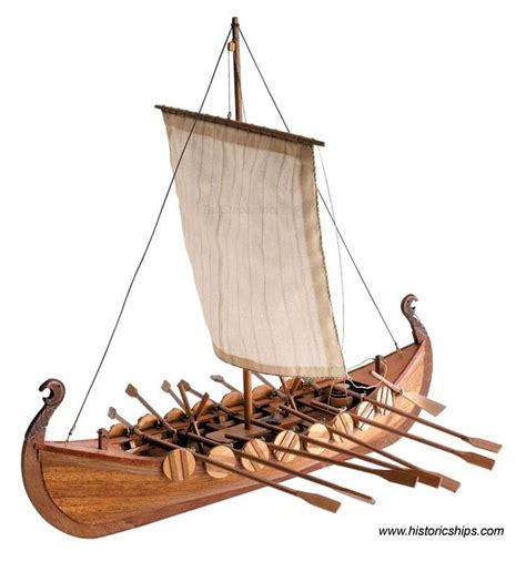 Viking Longboat Model by Found Wooden Model Boat Paints Nellaas Boats