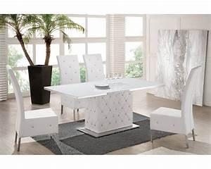 Table Blanche Salle A Manger : table salle a manger blanche table en chene trendsetter ~ Teatrodelosmanantiales.com Idées de Décoration