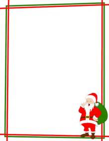 photo album with memo space a christmas page border with santa claus in the bottom