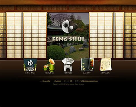 Feng Shui Flash Website Template  Best Website Templates