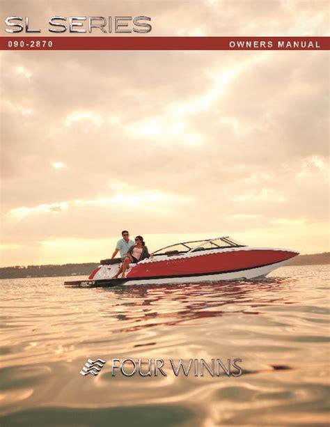 Four Winns Boat Owners Manual by 2011 Four Winns Sl Series Boat Owners Manual