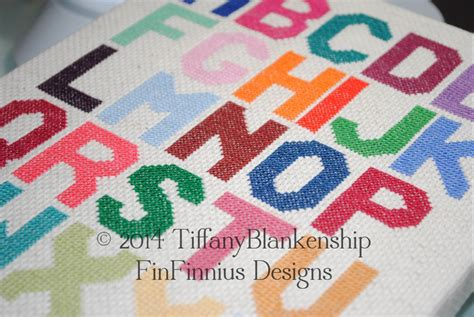 Alphabet Block Letters Large Counted Cross By