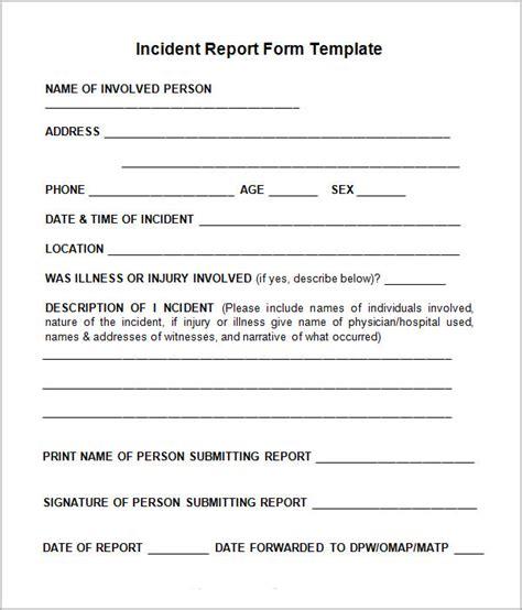 Incident Report Template Incident Report Template Incident Report All Form Templates