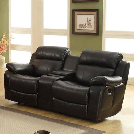 black leather reclining loveseat weston home darrin leather reclining loveseat with console