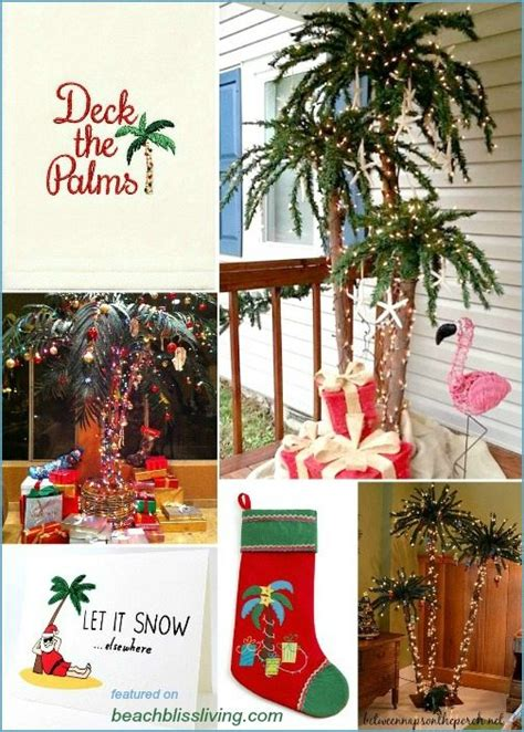 deck  palms palm christmas trees decorations