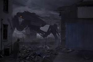 Artwork, Robot, Apocalyptic, Mech, Digital, Art, Futuristic, Dark, Abandoned, Ruin, Wallpapers, Hd
