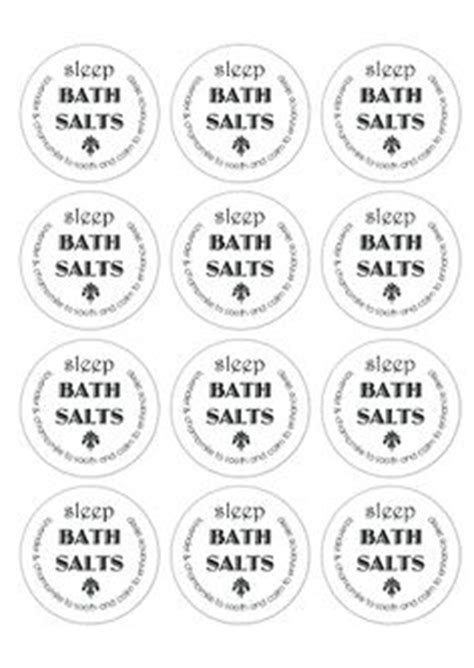 peppermint candy cane bath salts label printable crafty
