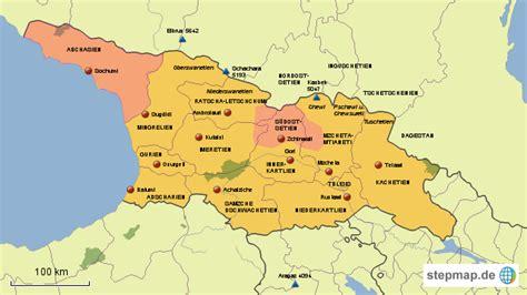 stepmap georgien regionen landkarte fuer georgien