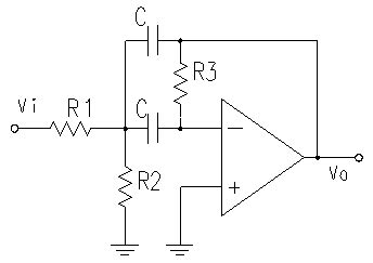 Amp High Band Pass Filter With Electrical