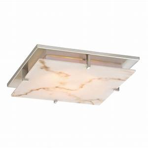 Low profile decorative alabaster ceiling trim for recessed
