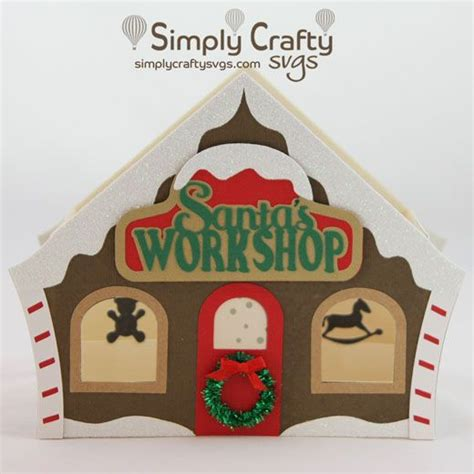Compatibility any cutting machine software that allows you to import svg files, such as sure cuts a lot (scal), ecal, make the cut, silhouette studio designer edition and cricut design space. Santa's Workshop Box Card SVG File - Simply Crafty SVGs ...