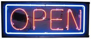 Outdoor Neon Open Signs Double Faced Neon Open Signs 2