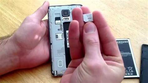 samsung galaxy note    insert remove sim card