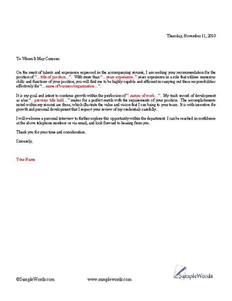 General Cover Letter To Whom It May Concern by Basic Cover Letter Template