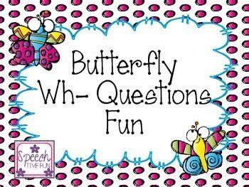 butterfly wh questions  images wh questions