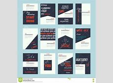 Motivation Quotes Calendar 2017 Stock Vector Image 77295336