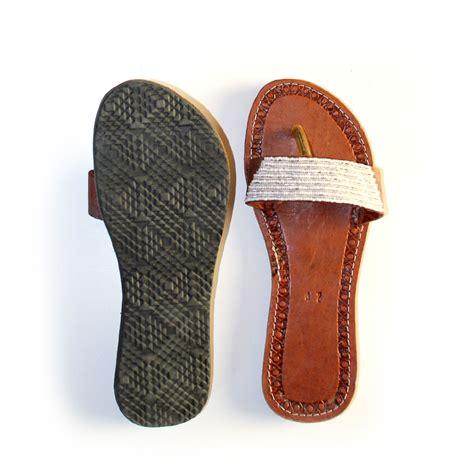 beaded african sandals size  black malaika