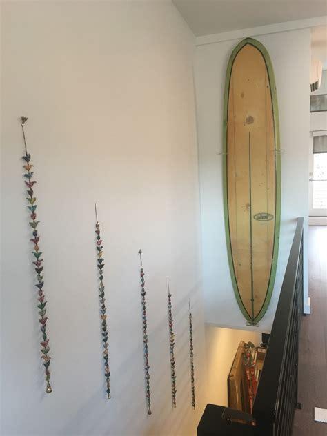 vertical surfboard display rack clear acrylic wall mount