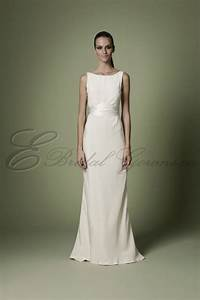 1960s silk soft ivory empire waistline bodice timeless With boatneck wedding dress