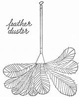 Duster Feather Clipart Simple Lois Cliparts Clip Library Ehlert Objects Line Clipground sketch template