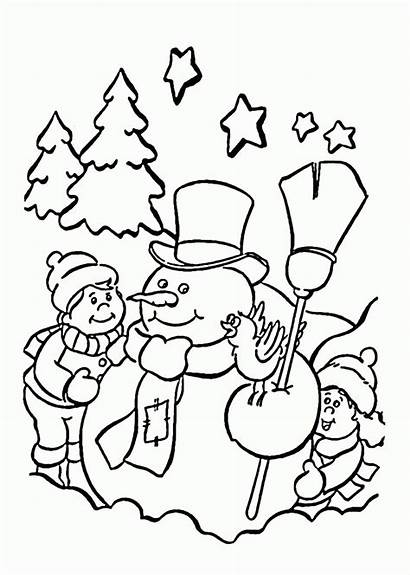 Coloring Christmas Pages Holidays Printable Snowman Happy