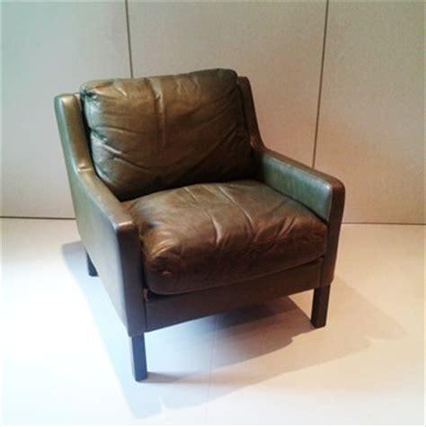 Green Leather Armchair by Green Leather Armchair 20th Century Furniture